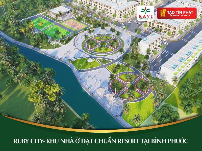 Ruby City (Kiên Cường Phát) -  Khu nhà ở đạt chuẩn resort tại Bình Phước